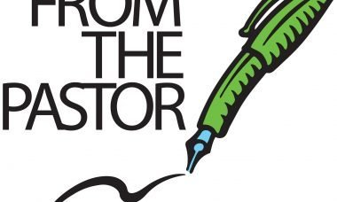 """A fountain pen with the words, """"From the Pastor."""""""