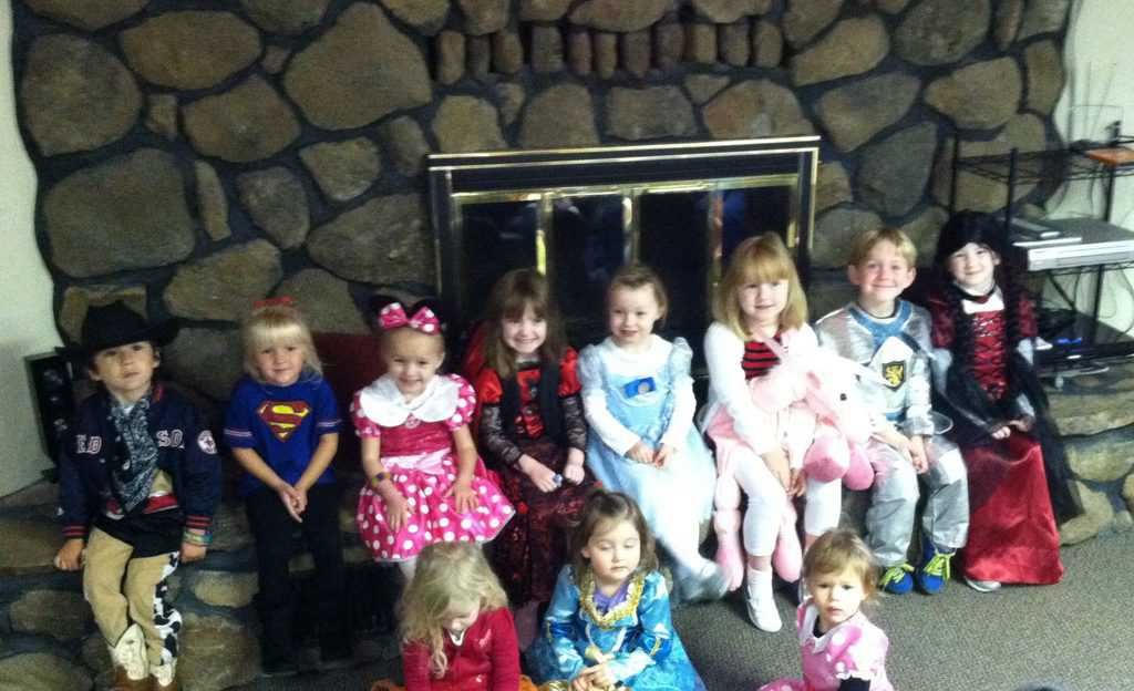 Preschool Children on Halloween in their custome