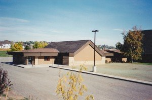 Photo of the Preschool Wing from Tieton Dr before the playground was built or the driveway paved