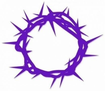 Purple crown of thorns design
