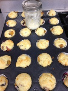 "Fresh Plum Muffins and Hand ""Churned"" Butter made during Farm Unit"