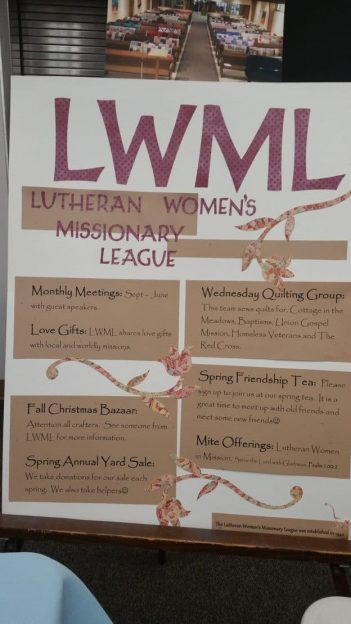 """Poster """"LWML"""" at the top and several small areas of text"""