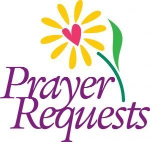 "The words, ""Prayer Requests"" with a flower design."
