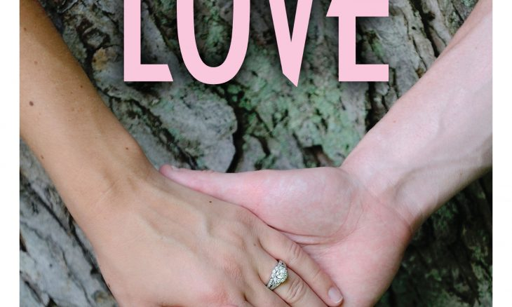"Two hands clasped together with the word ""Love"" above."
