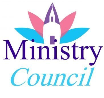 Church design with the words, Ministry Council.""