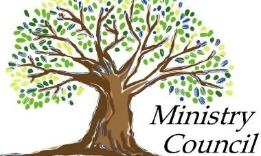 """Drawing of a tree with the words, """"Ministry Council."""""""