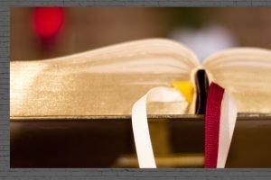 Photo of a Bible close-up