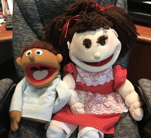 Photo of two puppets