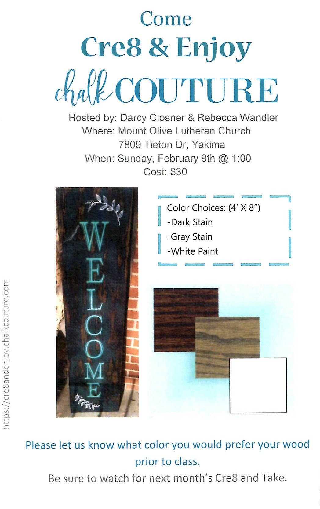 Cre8 & Enjoy-Chalk Couture @ Mt. Olive Lutheran Church